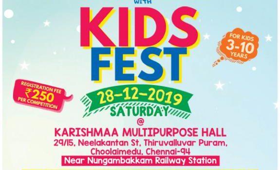KIDS FEST – Kids Competition on 28/12/2019 @Nungambakkam
