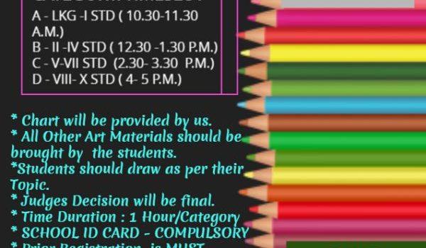 VIBGYOR 2020 | KIDS DRAWING COMPETITION | JAN 26TH 2020