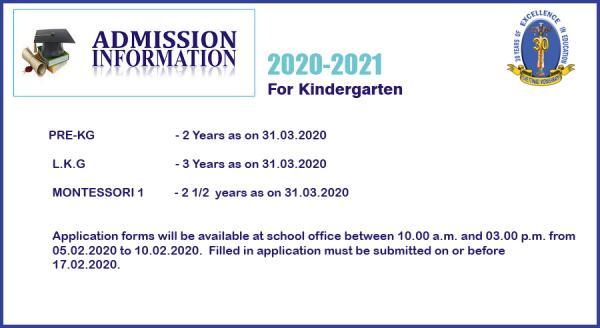 Chettinad Vidyashram Admissions 2020-21