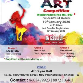 Dessin Academy, New Perungalathur Art Competition 2020