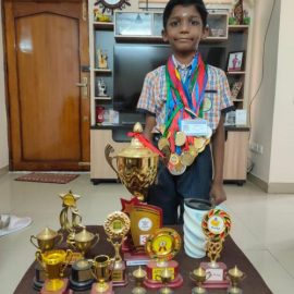Talented M Ramanathan, 1st Std Student of SBOA School & Junior College, Chennai