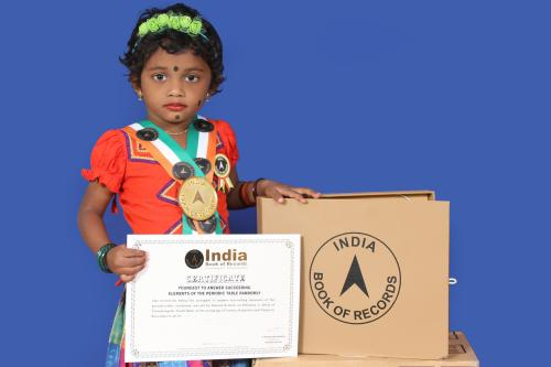 Tiny Talent K. Nepuna in India book of records and Asian book of records