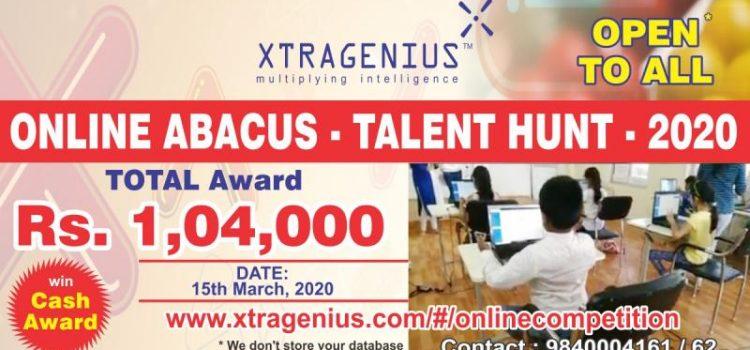 Xtragenius Great Indian Online ABACUS Talent Hunt 2020