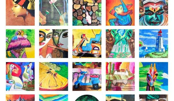 Painting Exhibition, Colourful Expression 2020 by Dessin Academy