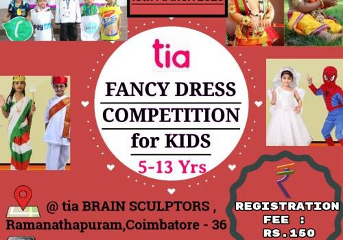 Fancy Dress Competition for Kids on 15th March 2020 by tia BRAIN SCULPTORS in Coimbatore