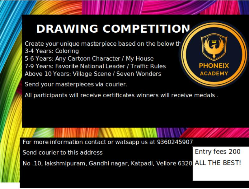 Phoenix Academy Drawing Competition 2020 - Kids Contests