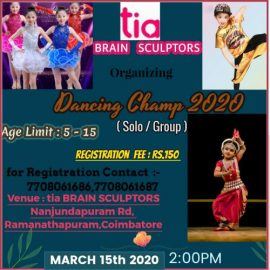 Solo Dancing Competition for Kids on 15th March 2020 @Coimbatore