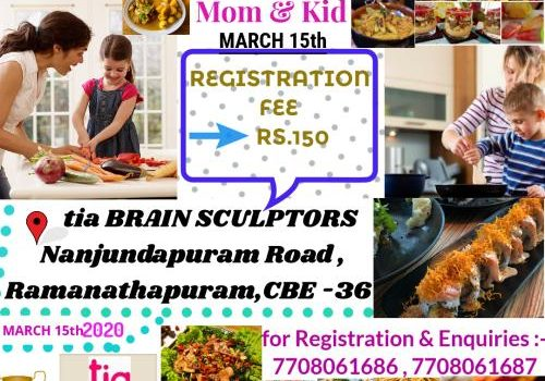 Fire Free Cooking Competition for Kids & Moms in Coimbatore