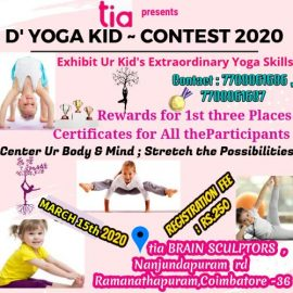 """""""tia BRAIN SCULPTORS"""" Conducting Yoga Competition for Kids on 15th March 2020"""