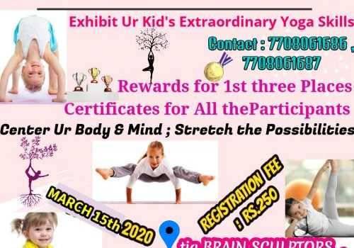 """tia BRAIN SCULPTORS"" Conducting Yoga Competition for Kids on 15th March 2020"