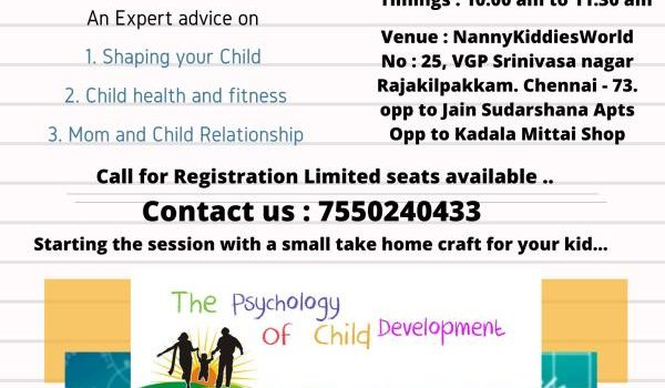 Workshop for Mother's on Child Psychology and Development