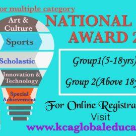 """NATIONAL PRIDE AWARD"" 2020 by KCA Global Educational Pvt. Ltd."