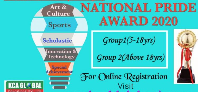 """NATIONAL PRIDE AWARD"" 2020 by KCA Global Educational Pvt. Ltd."