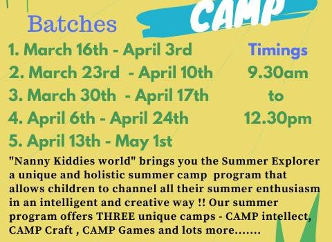 Summer Camp at NANNY KIDDIES WORLD from March 2020