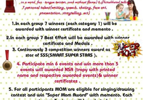 SMART SUPER STARS presents NUMEROUS SKILL AWARD ONLINE COMPETITION 2020