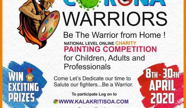 Kalakriti Art Foundation presents 'Corona Warriors National level Charity Painting Competition'