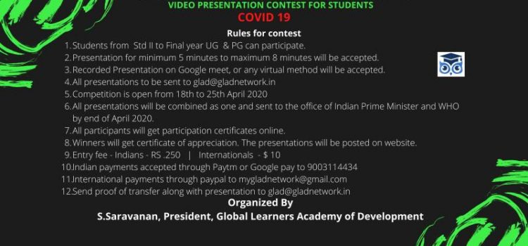 INTERNATIONAL VIDEO PRESENTATION CONTEST FOR STUDENTS