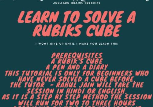 How to solve the Rubik's Cube Online Workshop