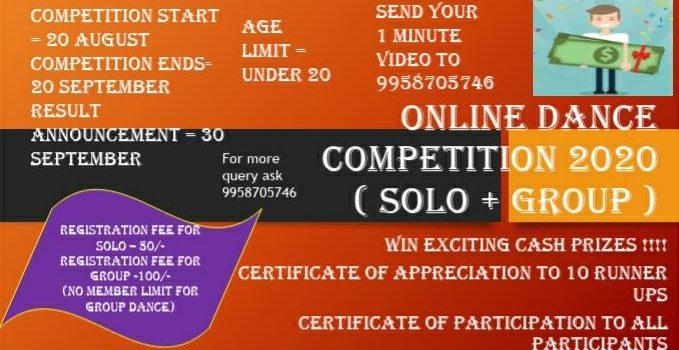 Akankshians Online Dance Competition 2020 (Solo + Group )