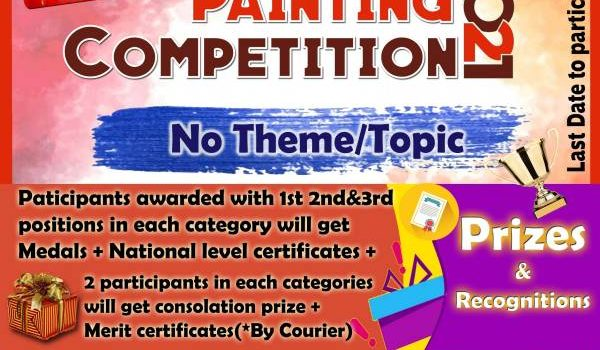 """National Level """"Color Splash"""": Drawing & Painting Competition 2021"""