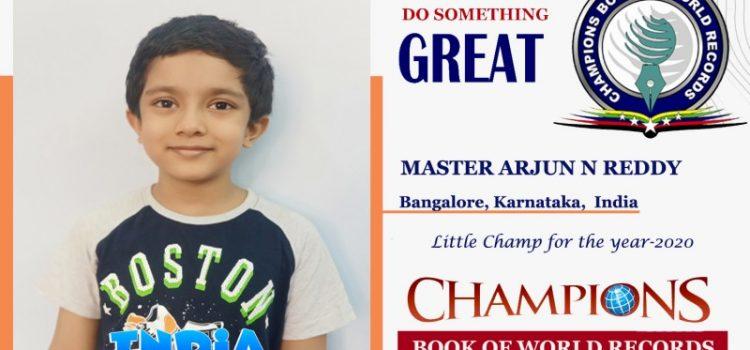 Tiny Talent Arjun N Reddy from Bangalore