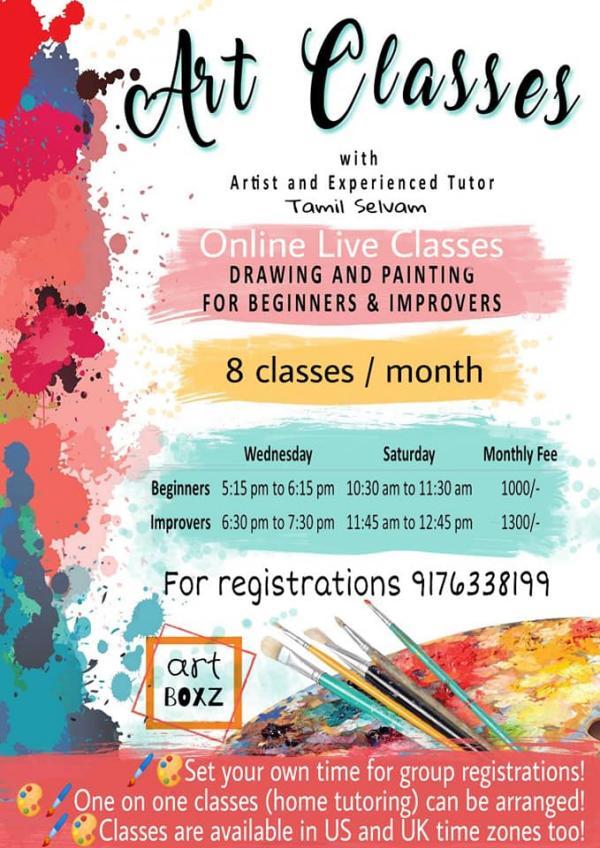 Online Art classes by Art Boxz – Kids Contests