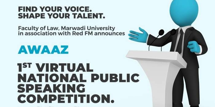 1st Virtual National Public Speaking Competition by Faculty of Law, Marwadi University