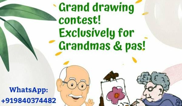 DRAWING CONTEST FOR GRANDPARENTS!!!