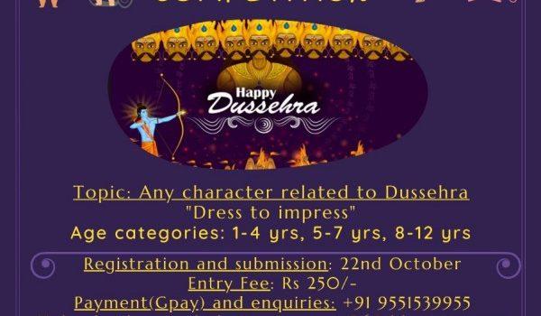 DUSSEHRA FANCY DRESS COMPETITION