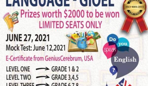 INTERNATIONAL OLYMPIAD FOR ENGLISH LANGUAGE – GIOEL(2020-21)