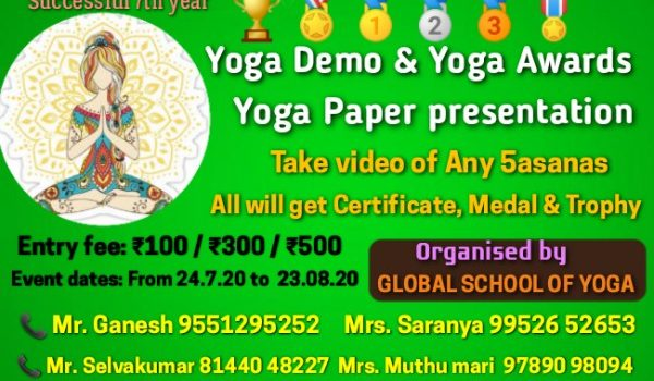 TAMILNADU YOGA FESTIVAL-2020 : An International Online Mega Event