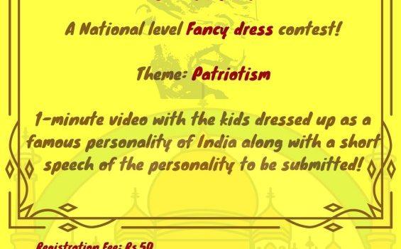 "eClaps presents ""Patriot"" | A National level Online Fancy dress Contest on Republic Day 2021"