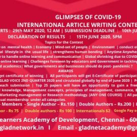 International Contest on Article Writing 2020