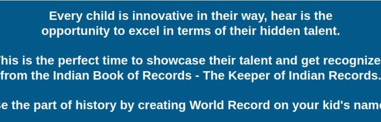 Talent Hunt from Indian Book of Records