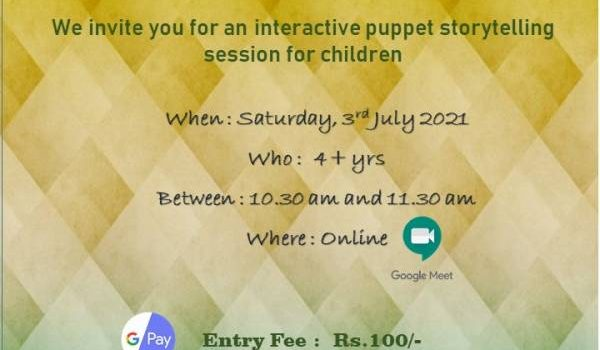 Weekend Storytelling Session on 03rd July 2021