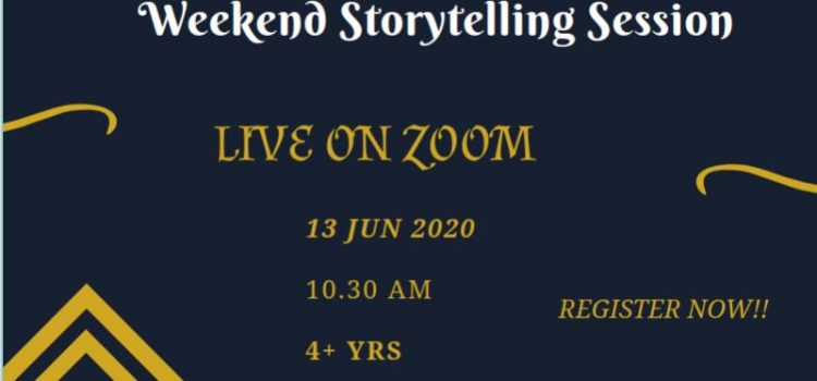 Weekend Storytelling session – LIVE ON ZOOM