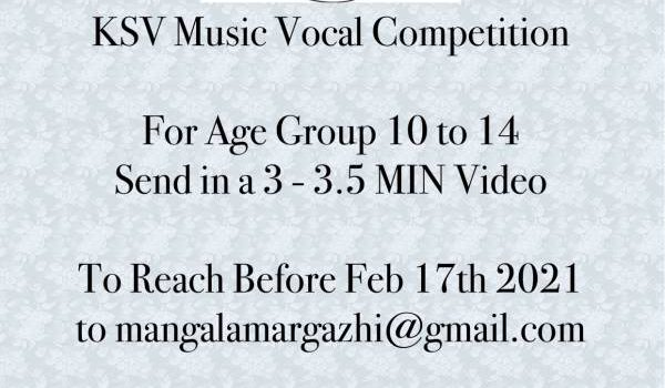 FREE Entry | KSV Vocal Competition for Kids in the age group of 10 to 14