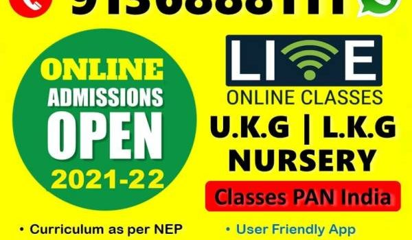 Online Live Classes for Kids – Nursery – Pre KG, LKG, UKG