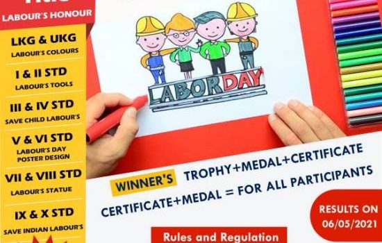 Labour's Day Special Online Art Competition for School Children