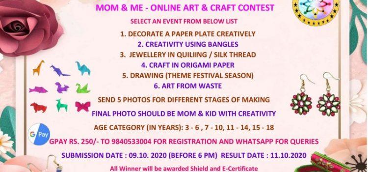 Sri Little Creations  Mom & Me – Art & Craft Online Contest
