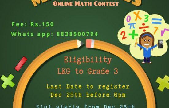 Skill Tree organizes 'Mathletes'-Online Math Contest
