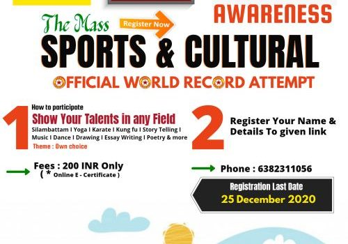 Noble 2nd The Mass Fit India Awareness World Records Attempt