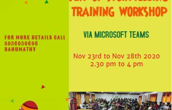 """""""Art of Storytelling Training Workshop for Adults"""""""