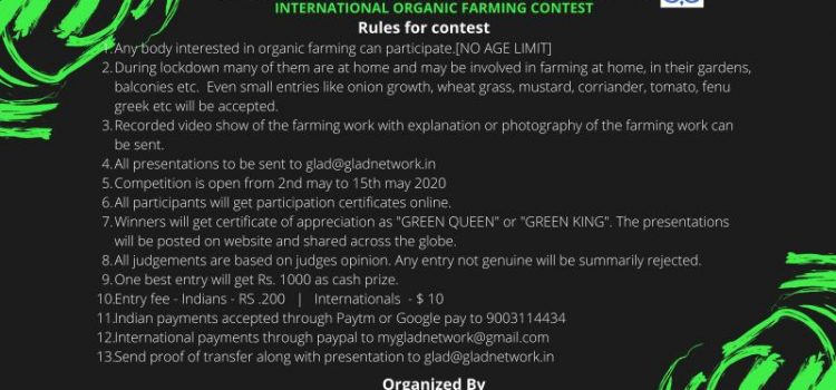 International Organic Farming Contest 2020 by Global Learners Academy of Development