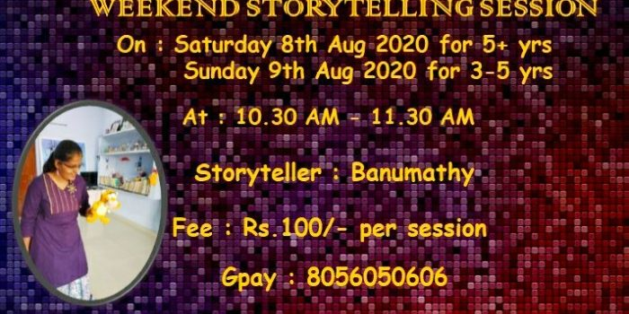 Weekend Puppet Storytelling Session 8th & 9th August 2020