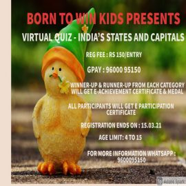 BORN TO WIN kids presents Online Quiz – India's States and Capitals