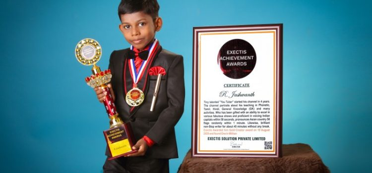 Achievement Awards for Tiny Talent R. Jashwanth