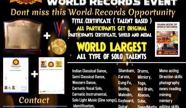 World Records Kids Event All Solo Talents 2021