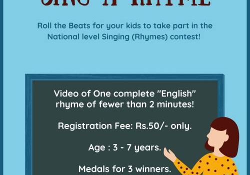 """""""eClaps"""" presents """"Sing a Rhyme"""" National level Online Singing Contest"""