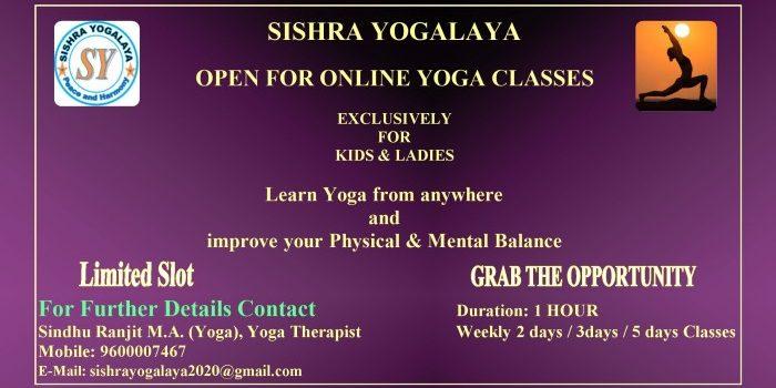 Sishra Yogalaya Online Yoga Class